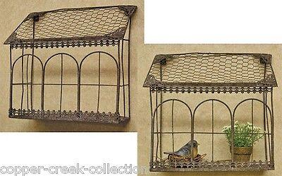 Chicken Wire & Metal Hanging/Sitting SHELF/Bird Cage/House Planter*Bird Feeder