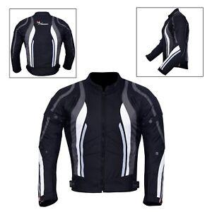 New-Men-039-s-Motorcycle-Motorbike-Jacket-Waterproof-Textile-With-CE-Armoured-Grey