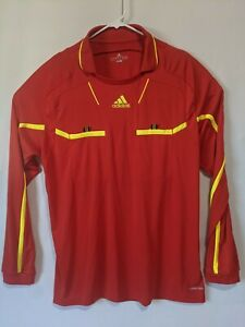 Details about 2011 Adidas Climacool Formotion Soccer Referee Jersey Red Yellow Long sleeve 2XL