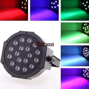 18W 6 Channel RGB Led Flat Par Light for Club DJ Stage Party w/ DMX Control 2014