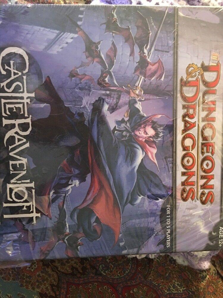 Dungeons och drakes Castle Ravenloft Board spel New Ripped Seal