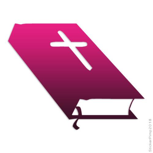 Size #172 Bible Closed Cross Decal Sticker Choose Pattern