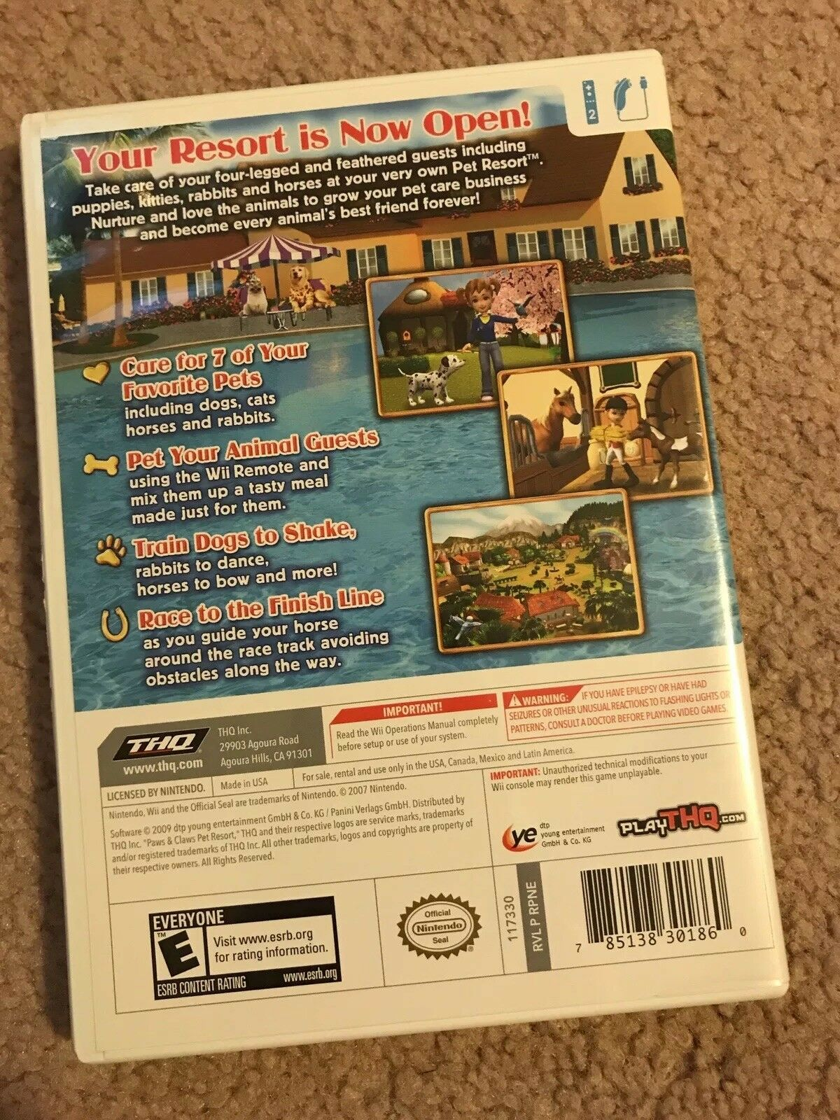 Paws & Claws: Pet Resort (Nintendo Wii, 2009)