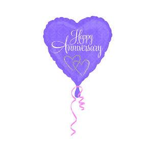"""Happy Anniversary 18/"""" Heart Shape Balloon"""