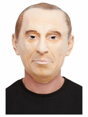 Men/'s Comrade Latex Fancy Dress Mask Russian Leader General Putin Stag Power Fun