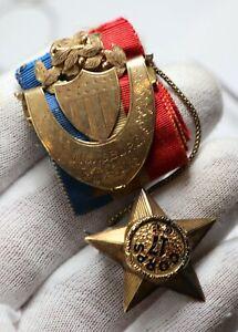 Captain Andrew Hickenlooper Civil War Gold Vicksburg Campaign Presentation Pin