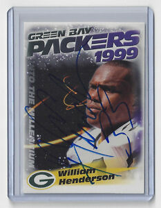 1999-PACKERS-William-Henderson-signed-card-AUTO-Police-9-Autographed-Green-Bay