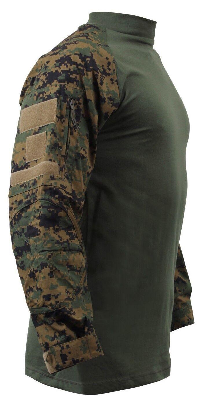 Camicia Militare Militare Militare Woodland Digital Camo Tactical Stile Varie Taglie Rothco 90005 1d834e