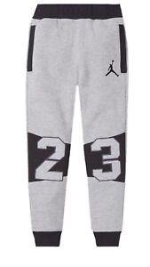 ae21e47541d6 Image is loading Nike-Air-Jordan-Jumpman-Boys-23-Jogger-Fleece-