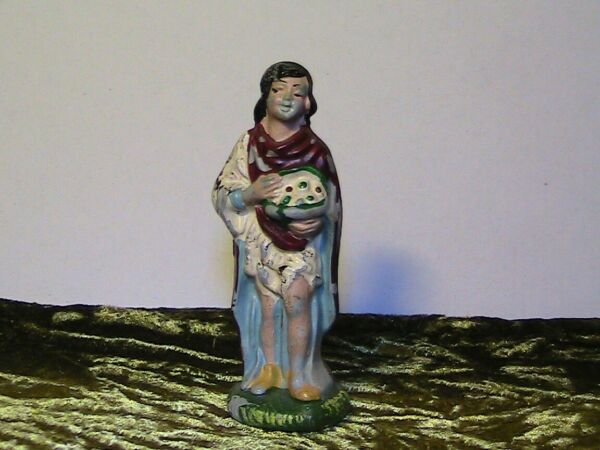 Statuina Presepe In Bachelite/celluloide Made In Italy Anni 40/50 Serie Cm 10
