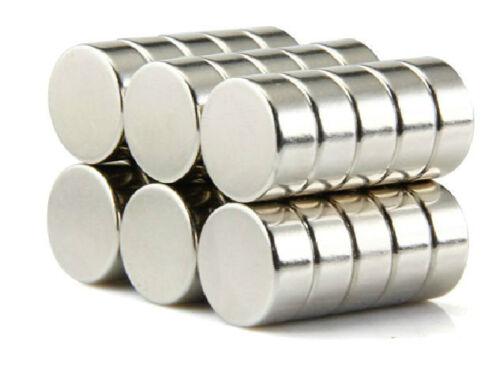 50pcs Neodymium Disc Mini 10mm X 4mm Rare Earth N35 Strong Magnets Craft Models
