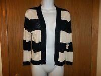 Women's 89th & Madison Blue Cream Striped Sweater Size S Msp $39.99