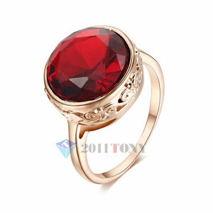 18K-Rose-Gold-Plated-Use-Swarovski-Crystal-Simulated-Ruby-Fashion-Cocktail-Rings