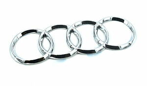 Genuine-New-AUDI-RINGS-BOOT-BADGE-Rear-Emblem-For-A3-2015-Quattro-S3-TDI-TFSI