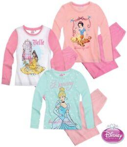 Disney-Princess-Maedchen-Pyjama-2-Teiler-Schlafanzug-lang-3-Varianten