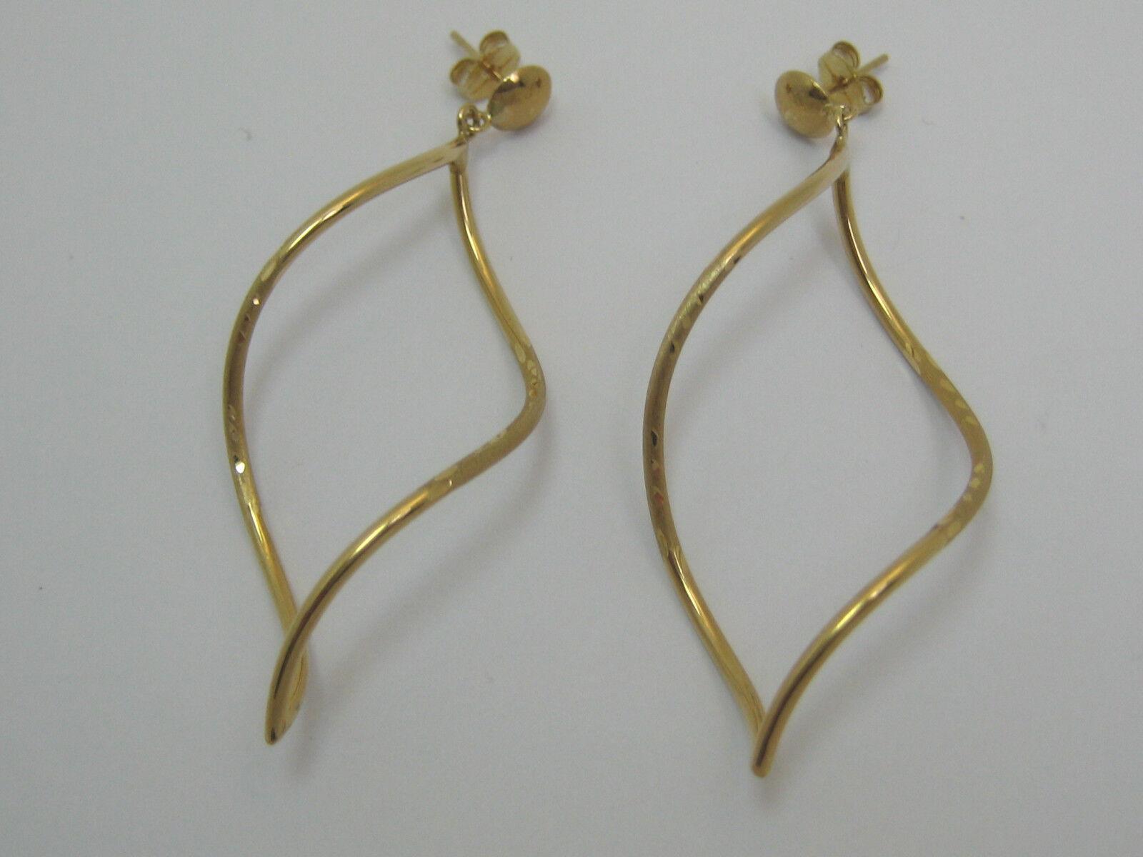 Solid 14k Yellow gold Fancy Post Earrings Style 295