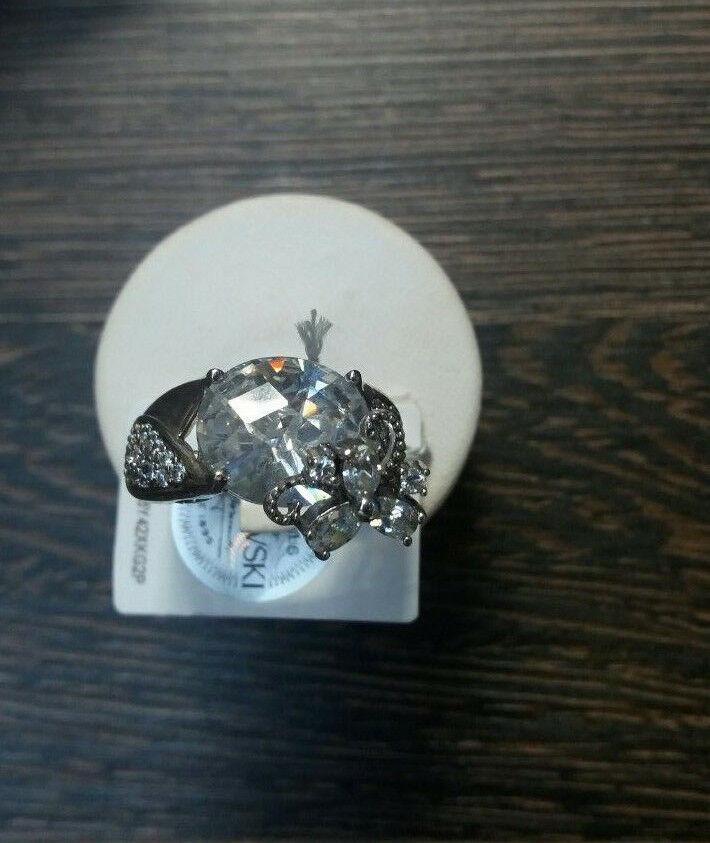 Aussergewöhnlicher Ring silver 925 SWAROVSKI Zirkonia Gr.59  18,8mm NEU