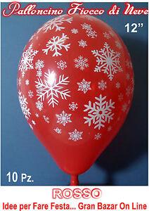 NATALE-PALLONCINI-ROSSI-FIOCCO-DI-NEVE-12-POLLICI-30-cm-diam-10-Pz-Festa-Party