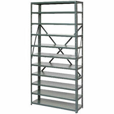 New Listingopen Style Steel Shelf With 11 Shelves 36wx12dx73h