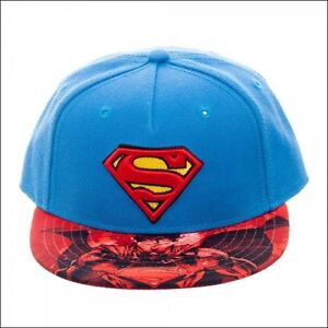 new styles cac9d 92ef5 Image is loading Superman-Man-of-Steel-Sublimated-Bill-Kids-Snapback-