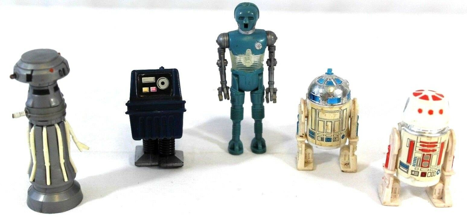 VTG Star Wars LOOSE Lot of 5 Droids Robots R2-D2 R5-D4 Gonk 2-1B FX-7 Figures