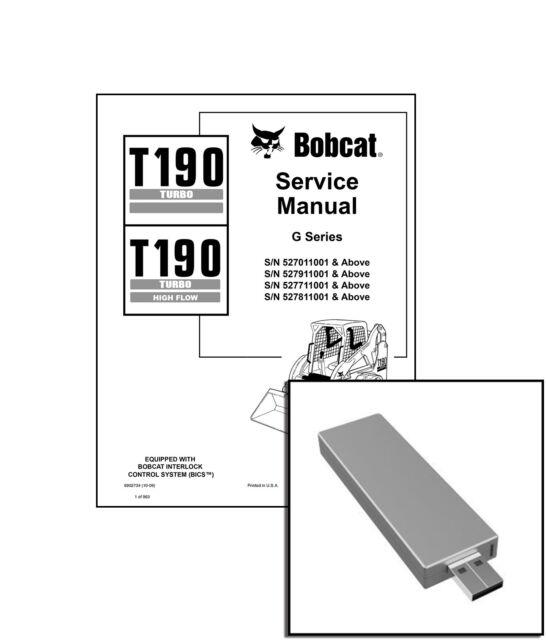 Bobcat T190 Turbo Track Loader High Flow Service Manual 2009 Rev 6902734
