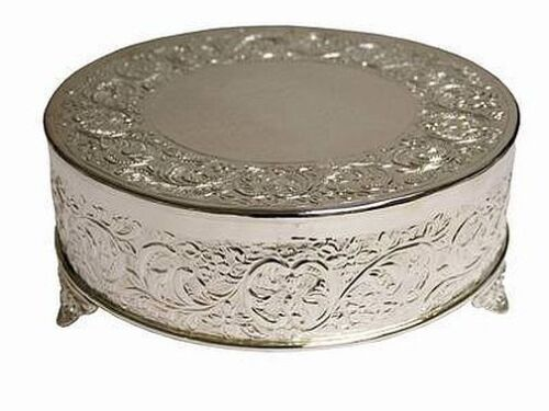 """22/"""" SILVER ROUND CAKE STAND Display Wedding Birthday Party Catering Decorations"""