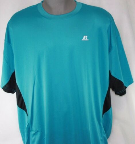 NEW Mens Russell Athletic Teal Blue Big /& Tall Dri Power Moisture Wicking Shirt