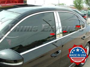 2012-2019-Volkswagen-Passat-6Pc-Chrome-Pillar-Post-Stainless-Steel-Trim-Door