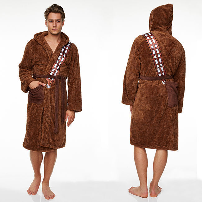 STAR WARS CHEWBACCA Furry Fleece Hooded Dressing Gown Bathrobe