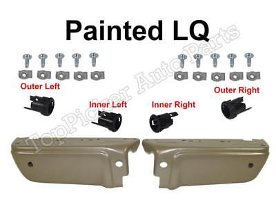 Painted LQ Rear Bumper Outer Extension Cap LH /& RH For 2011-2016 F250 F350 F450