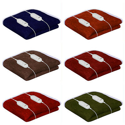 100% Shock Proof Electric Blanket Single Bed  Double Bed Warmer 6 Colors Ops