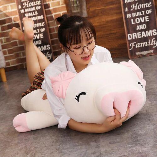 Funny 75CM Big Squishy Pig Stuffed Doll Plush Piggy Soft Hug Pillow Animals Toys