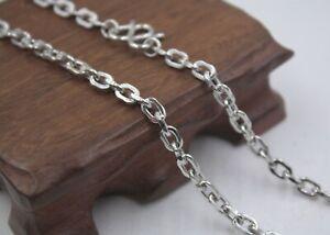 21-2INCH-Pure-Platinum-950-Necklace-4-8mm-Cable-Link-Chain-Necklace-Pt950