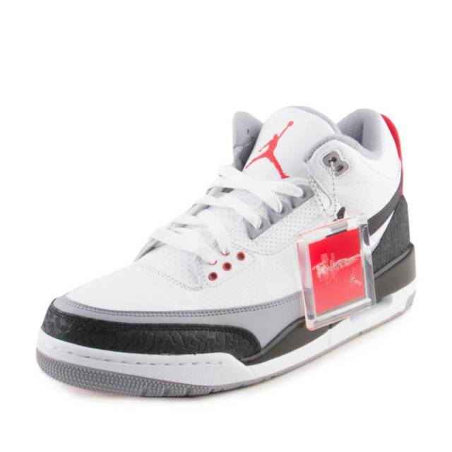 27a3ab319a3 NIKE Mens AIR JORDAN 3 RETRO TINKER NRG WHITE/BLACK/FIRE RED AQ3835-