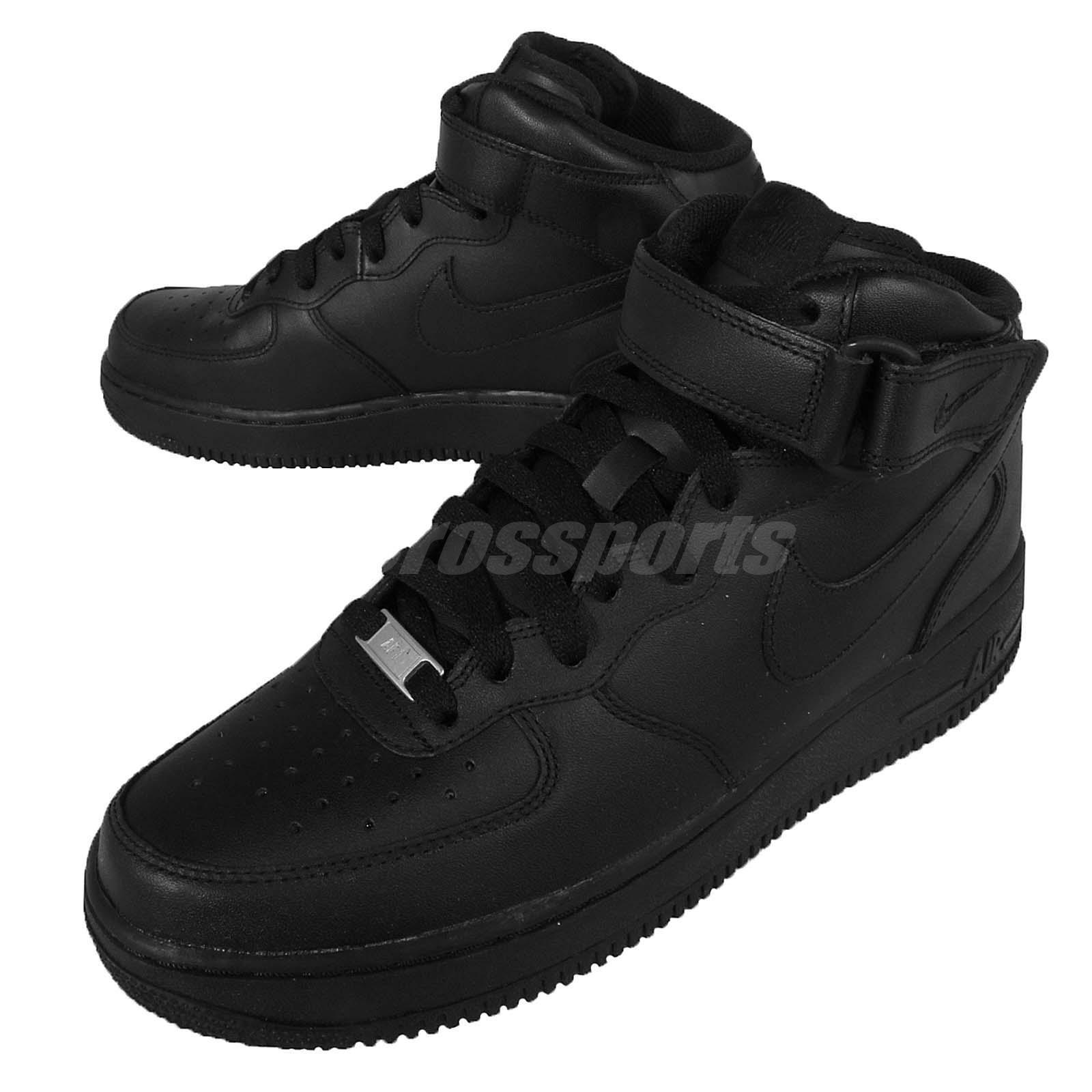 f60b6376496f lovely Nike Air Force 1 Mid 07 Black Mens Classic AF1 Shoes Sneakers 315123- 001