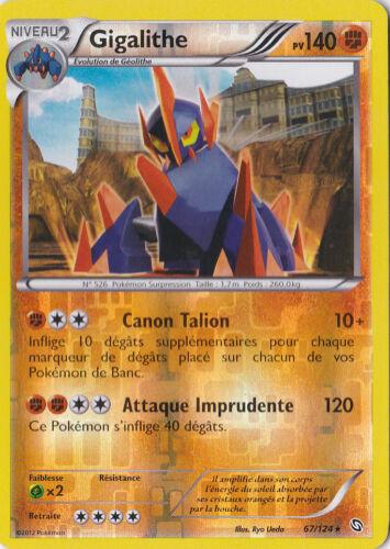 Gigalithe reverse-Noir /& Blanc-Dragons Exaltés-67//124-Carte Pokemon France Neuv