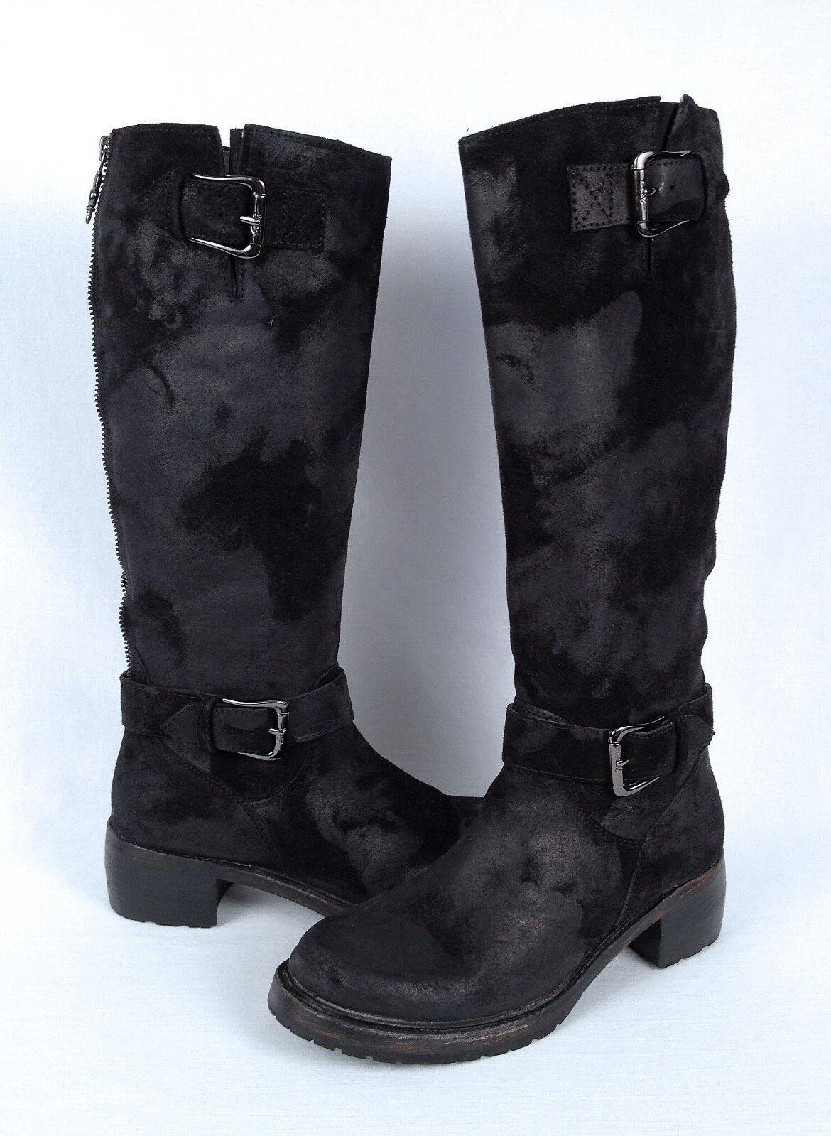 Donald J Pliner   gusta     bota de moto-Vintage Negro-Talle 6 M (B27) 946352