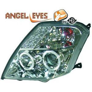 Par-faros-delanteros-TUNING-CITROEN-C2-2003-10-cromados-anillos-angel-eyes