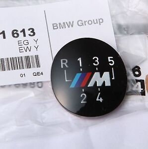 BMW-Genuine-M-5-Speed-Gear-Knob-Badge-Emblem-E60-E39-E46-E36-E34-E30-25111221613