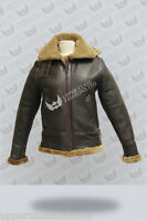 Ladies B3 Sheepskin Shearling Leather Flying Ginger Hooded Aviator Jacket