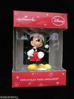 Hallmarkdisney Resin 3 Mickey Mouse With Candy Cane Ornamentnib