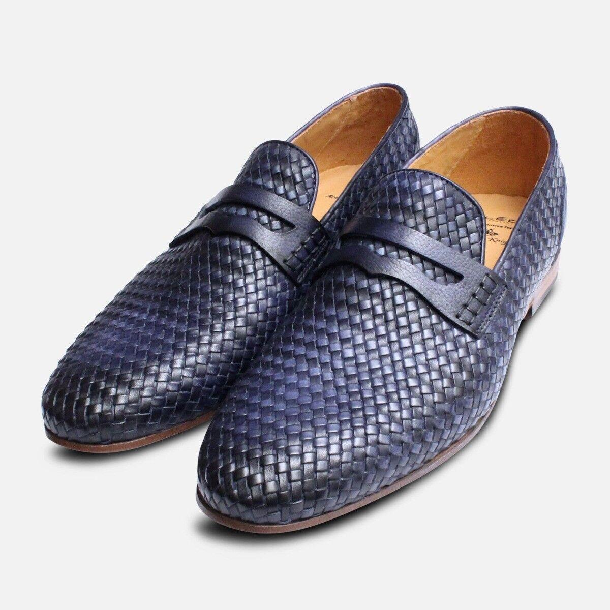 Weave Loafers in Navy bluee by Arthur Knight