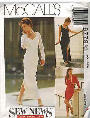 6779 UNCUT Vintage McCalls SEWING Pattern Misses Lined Bolero Dress SEW NEW FF