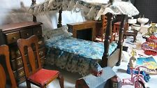 Dollhouse Miniature Furniture Lot Vintage Wood & doll house Accessories 1:12