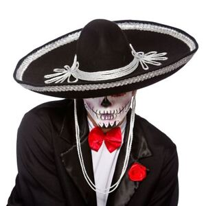 Black-Sombrero-Hat-Day-Of-The-Dead-Mexican-Bandit-Fancy-Dress-Accessory