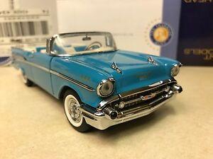 Image Is Loading 1 24 Franklin Mint Larkspur Blue 1957 Chevrolet