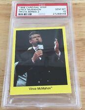 Vince McMahon 1999 Cardinal Card Psa Graded Gem Mint 10 Pop 1 Wwf Wwe Rare