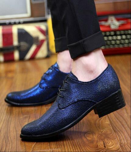 Lace Moda punta Oxford Party vestito formale a uomo punta up Wedding scarpe Business Rwapqg6R