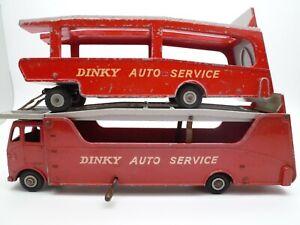 VINTAGE-DINKY-983-AUTO-SERVICE-CAR-TRANSPORTER-amp-TRAILER-ISSUED-1958-63